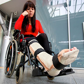 Many accidents can leave Houston residents in a wheelchair like this one. If you have been hurt, contact a Houston, Texas personal injury attorney to learn your rights.
